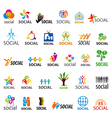 large set of logos social vector image