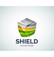 Shield logo business branding icon vector image vector image