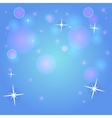 Bokeh blue background vector image vector image