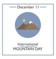 Mountain Day vector image vector image