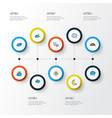 air colorful outline icons set collection of vector image