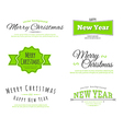 Merry Christmas type vector image vector image