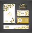 Set of business cards Templates for wine company vector image