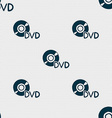 dvd icon sign Seamless pattern with geometric vector image