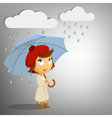 young woman with umbrella vector image vector image