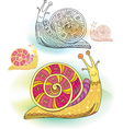 Abstract snail vector image vector image