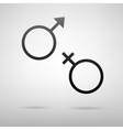Sex sign black icon vector image