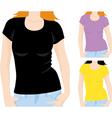 womens t-shirt template vector image