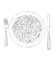 Hand drawn salad sketch Food vector image