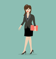Business woman walking vector image
