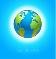 Earth on blue vector image