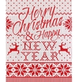 Merry Christmas and happy new year style seamless vector image