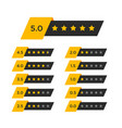 review star rating symbol vector image