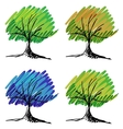 Set of tree sketches vector image