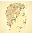Sketch cute man in profile vector image