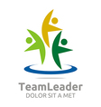 teamleader guidance human abstract design vector image
