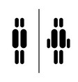toilet sign icons vector image