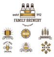 vintage craft beer retro logo badge design emblems vector image