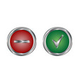 web icon button yes or no vector image
