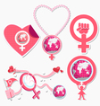 International Woman Day Symbol and Icon vector image vector image
