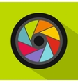 Small objective icon flat style vector image