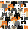 pattern with cute cats idea vector image