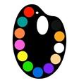 Palette vector image