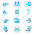 footwear icons  marine series vector image