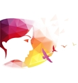 Abstract modern background with woman face vector image vector image
