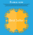 Best seller sign icon Best-seller award symbol vector image