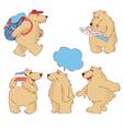 funny cartoon polar bears vector image vector image