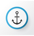 anchor icon symbol premium quality isolated ship vector image
