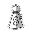 bag money dollar cash cut shadow vector image
