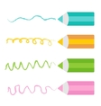 Colored pencil set Isolated Flat design vector image