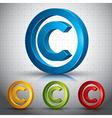 Copyright symbol vector image