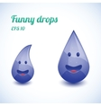 Funny water drops vector image