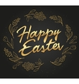 hand drawn easter lettering gold greeting vector image