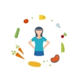 Healthy lifestyle fitness and physical activity vector image