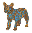 high detail patterned french bulldog vector image