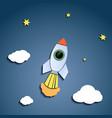 rocket flies against the sky vector image