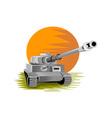 World War Two Panzer Battle Tank vector image vector image