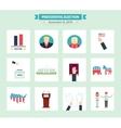 USA presidental election Icons set Vote concept vector image