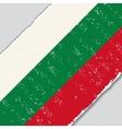 Bulgarian grunge flag vector image