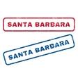 Santa Barbara Rubber Stamps vector image