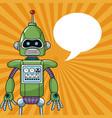 robot machine engineering bubble speech vector image