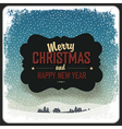 merry christmas vintage label design template vector image vector image