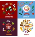 Creative food products concept flat infographics vector image vector image