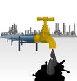 Oil producing factory vector image vector image