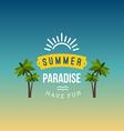 Retro Summer Vintage Label on Colorful Background vector image