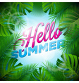 Hello Summer Holiday typographic design vector image